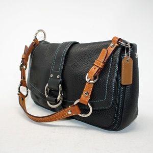 Coach Satchel Shoulder Bag Style 8A41 in Black